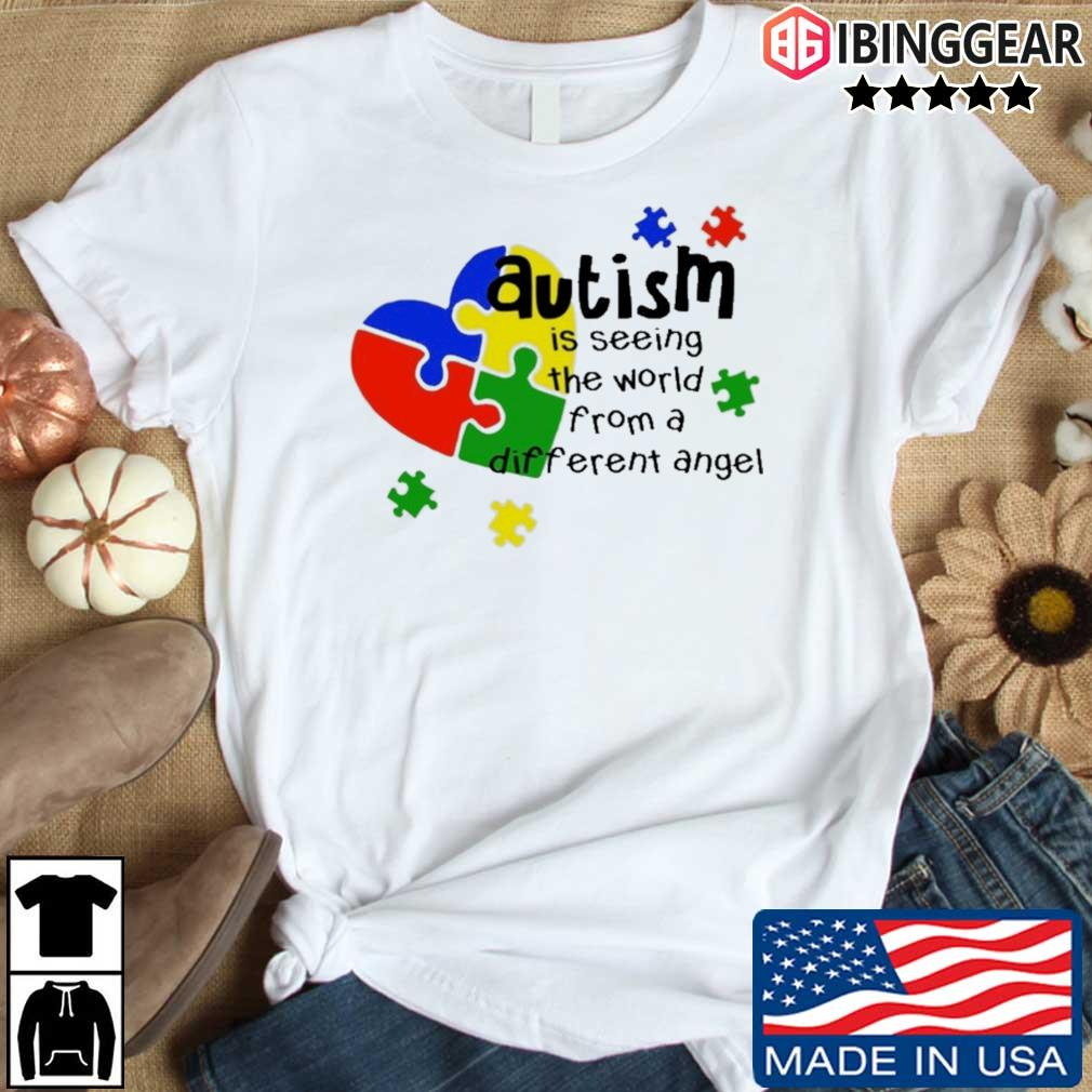 Autism is seeing the world from a different angel heart shirt