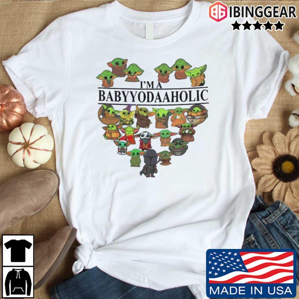 Star Wars I'm A Babyyodaaholic heart shirt