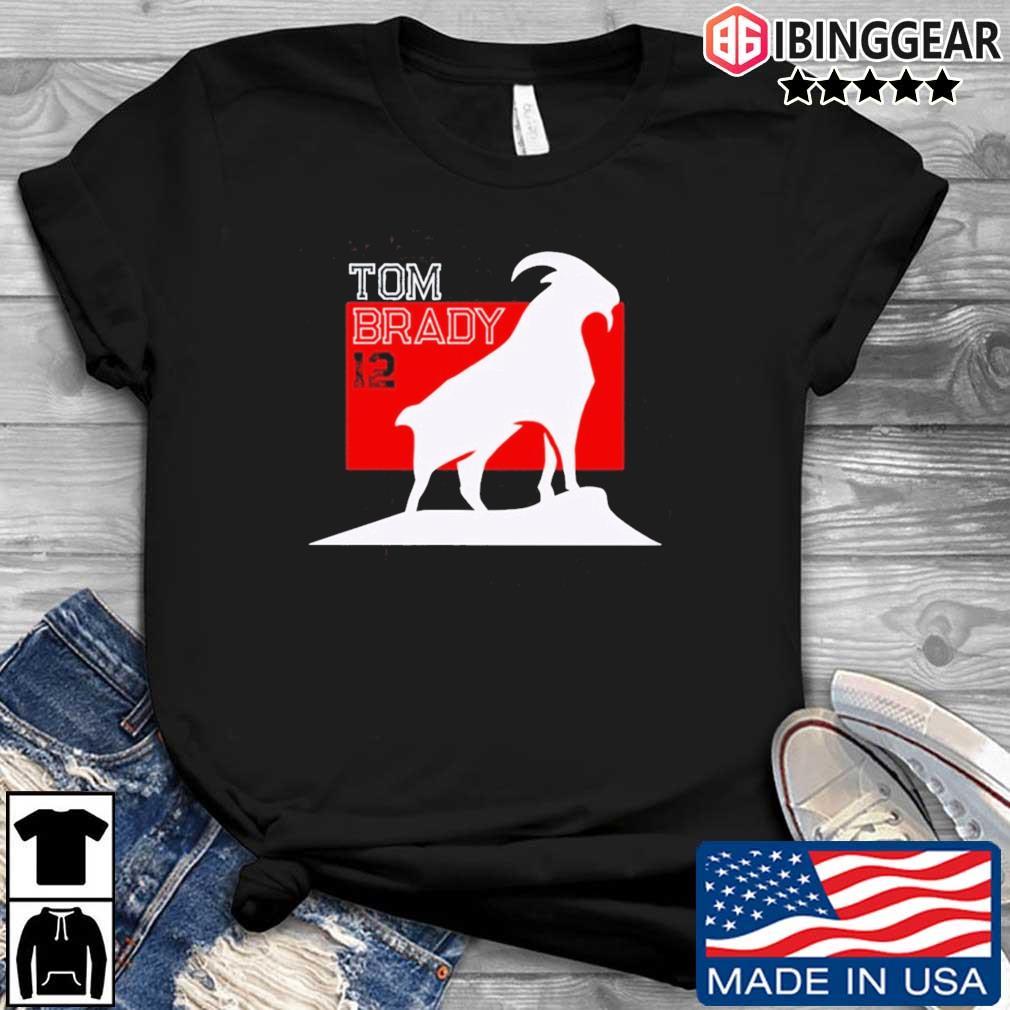 Tom Brady Goat 12 Tampa Bay Buccaneers Shirt