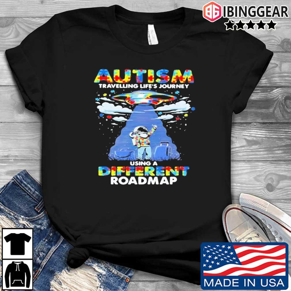 UFO Autism travelling life's journey using a diferent roamap shirt