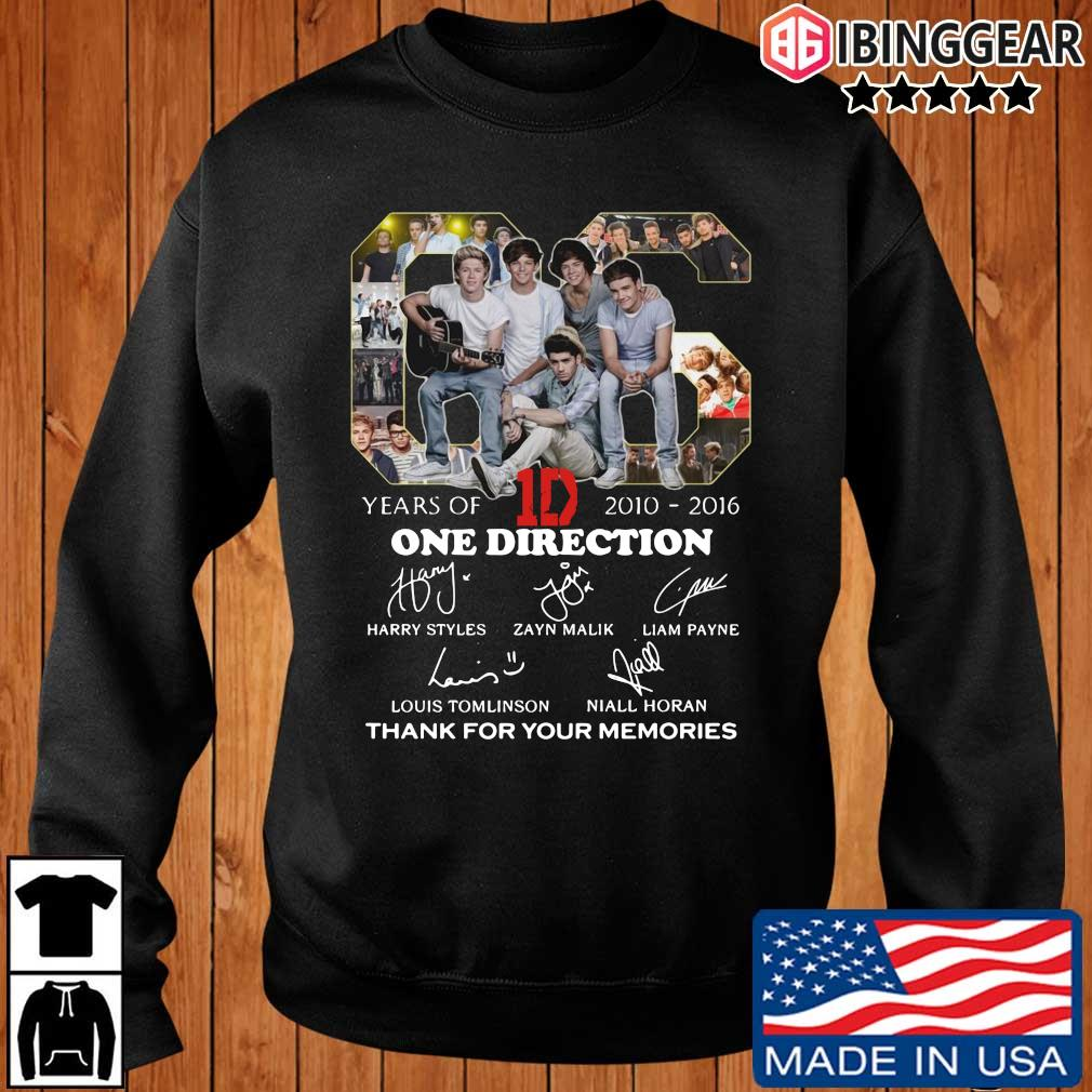 06 years of 2010-2016 One Direction thank you for the memories signatures Ibinggear sweater den