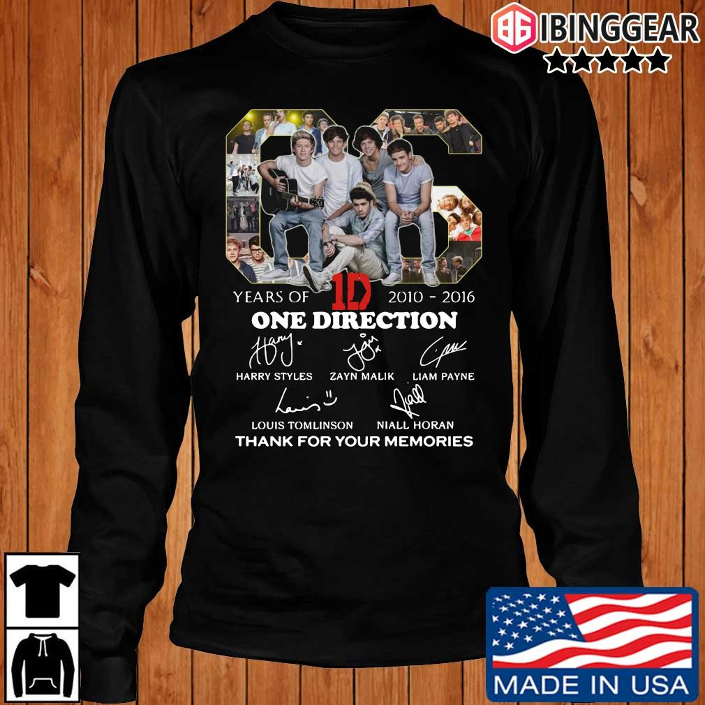 06 years of 2010-2016 One Direction thank you for the memories signatures Longsleeve Ibinggear den