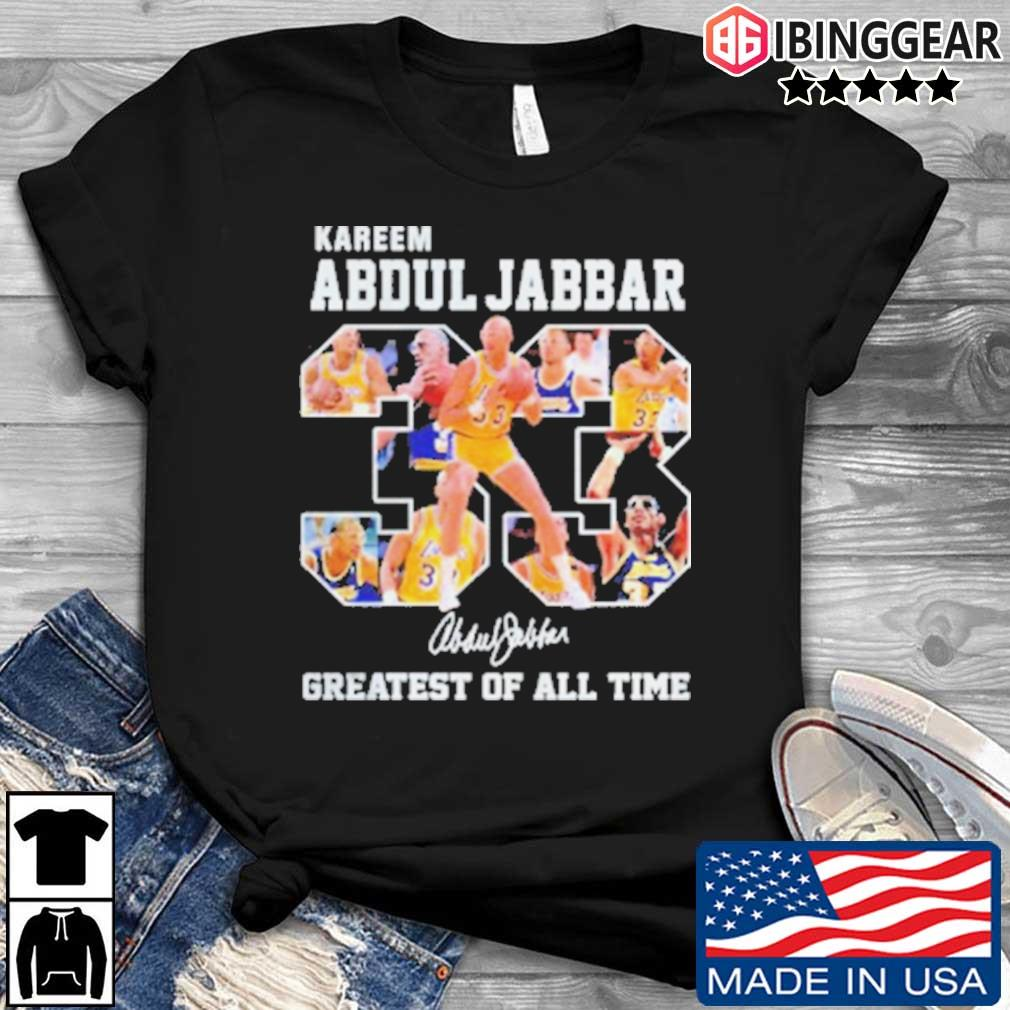 33 Kareem Abdul Jabbar Signature Greatest Of All Time Shirt