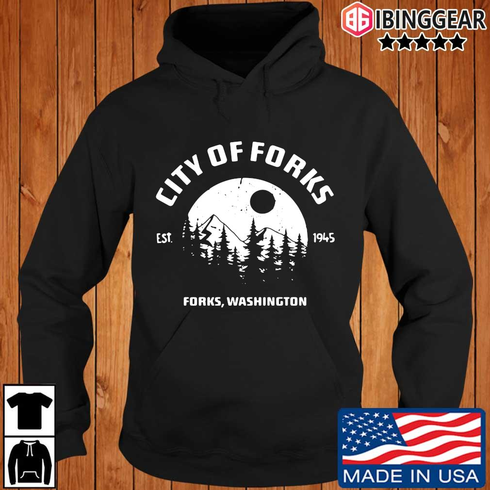 City of forks forks Washington est 1945 Ibinggear hoodie den