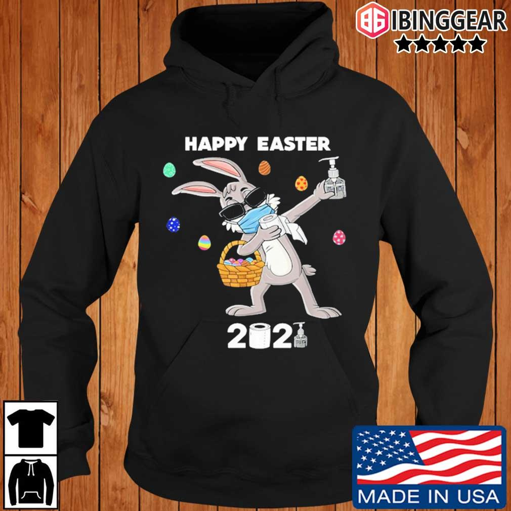 Dabbing rabbit face mask happy easter 2021 Ibinggear hoodie den