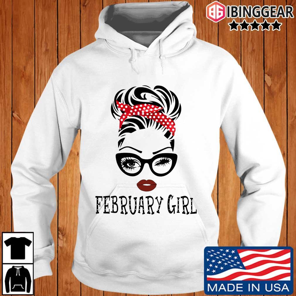 February Girl Face Wink Eye Shirt Ibinggear hoodie trang