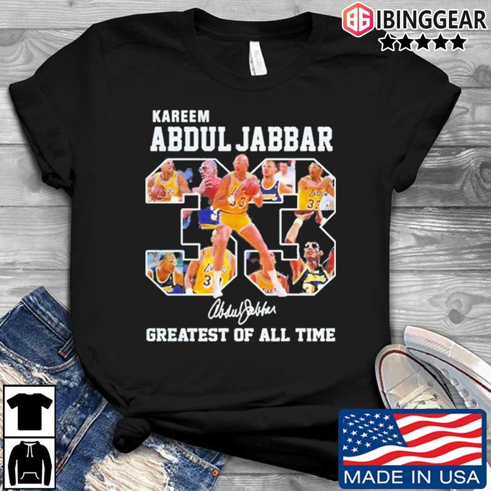 Kareem Abdul Jabbar 33 Greatest Of All Time Signature Shirt