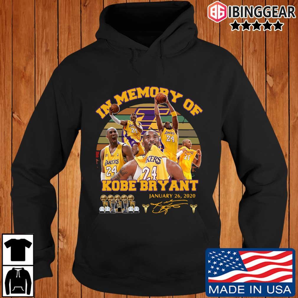 Kobe Bryant in memory of january 26 2020 signature vintage Ibinggear hoodie den