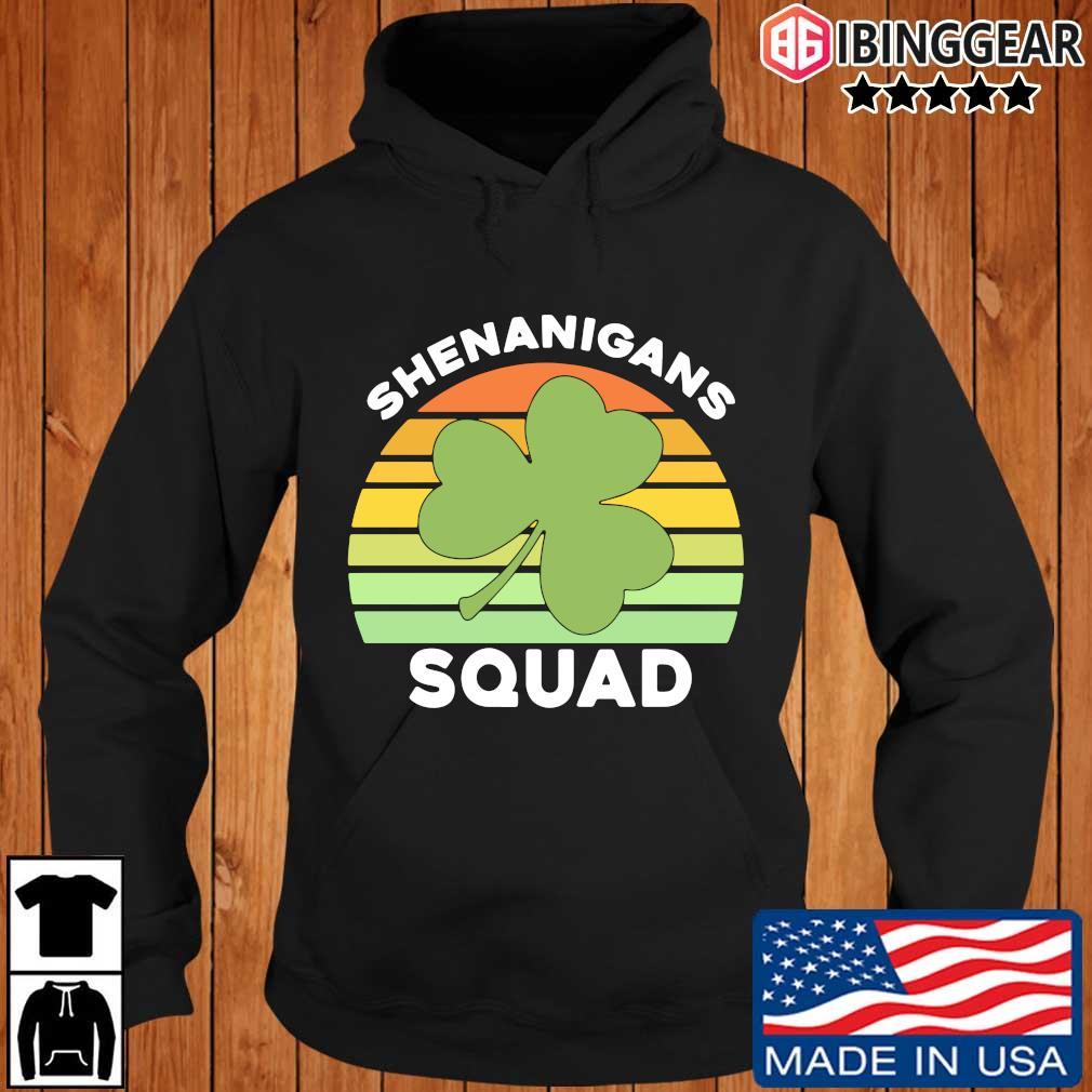 Offical Shamrock shenanigans squad St Patrick's Day vintage Ibinggear hoodie den