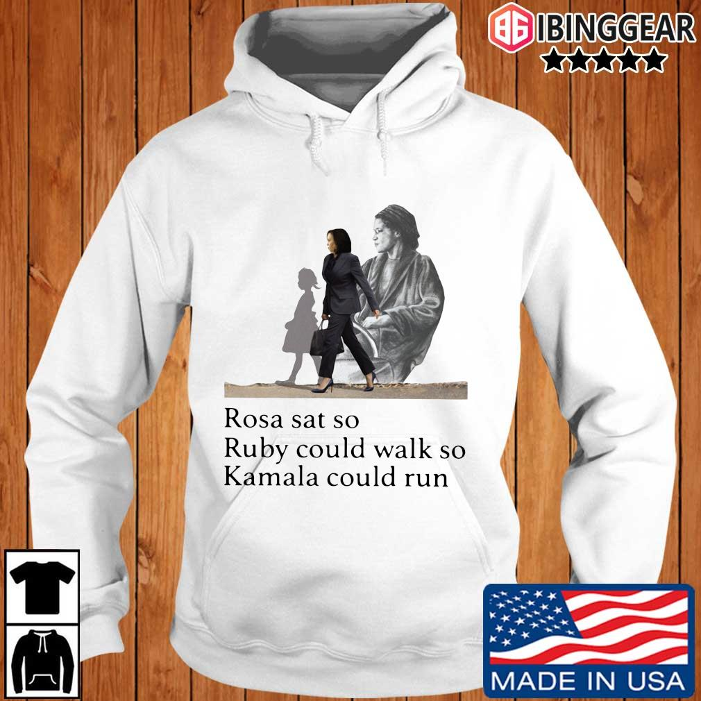 Official Kamala Harris rosa sat so ruby could walk so Kamala could run Ibinggear hoodie trang