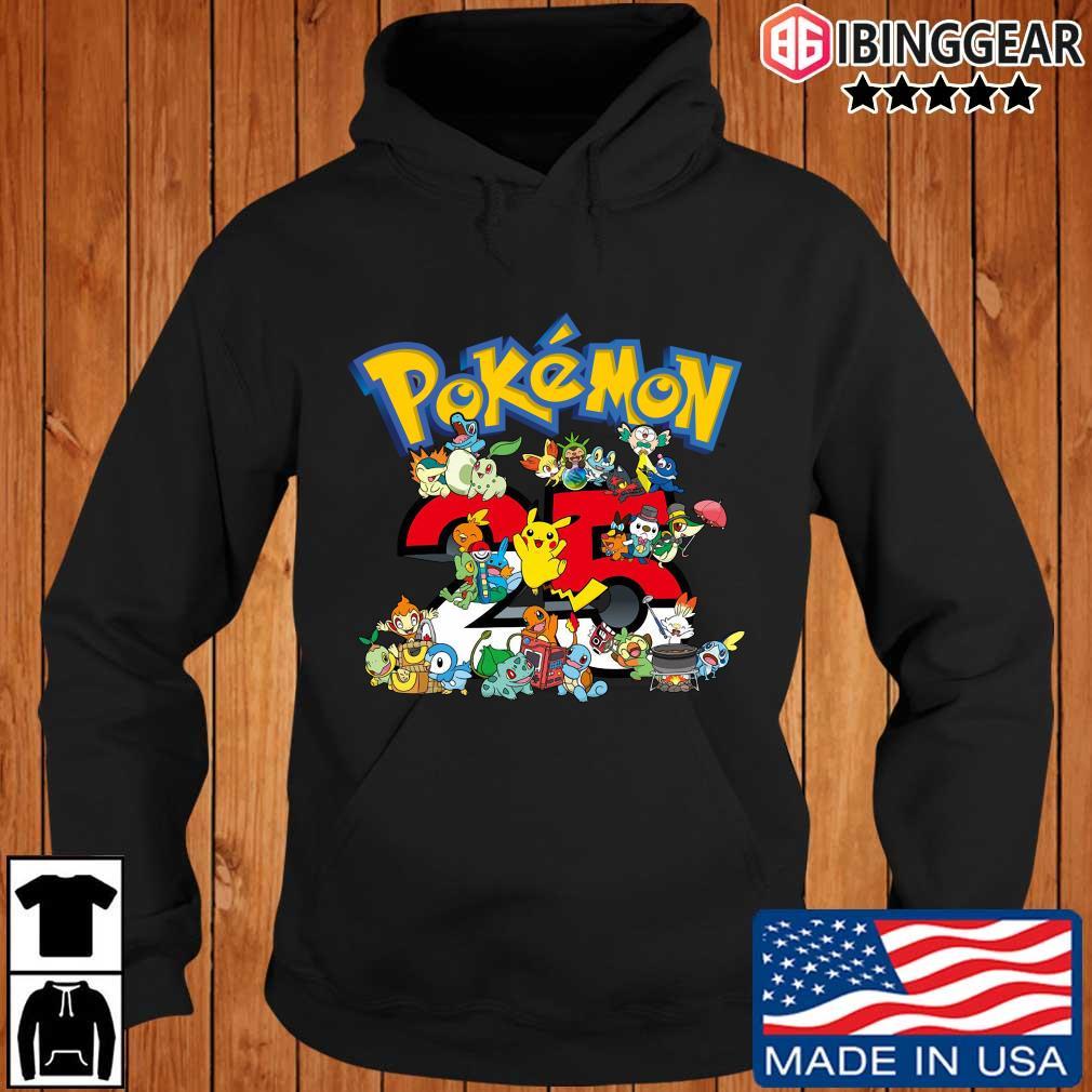 Pokemon characters 25 years shirts Ibinggear hoodie den