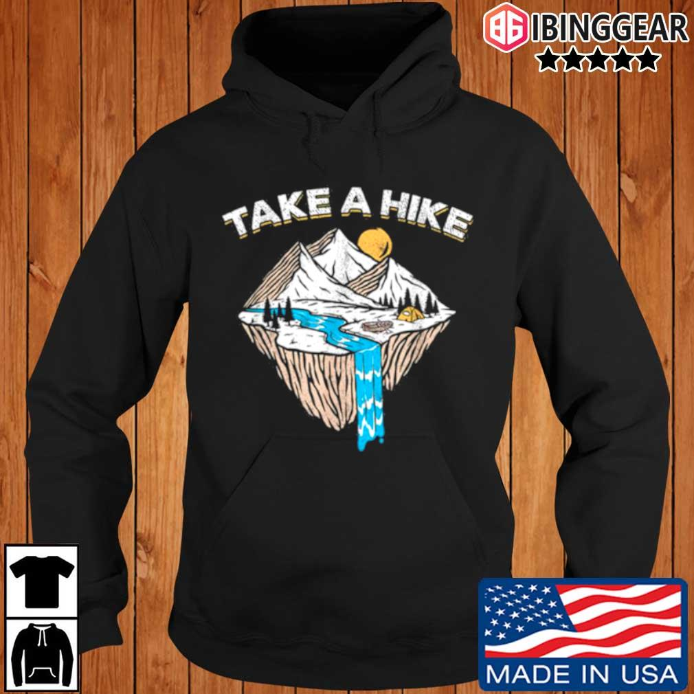 Take a hike outdoor sunset vintage style mountains nature Ibinggear hoodie den