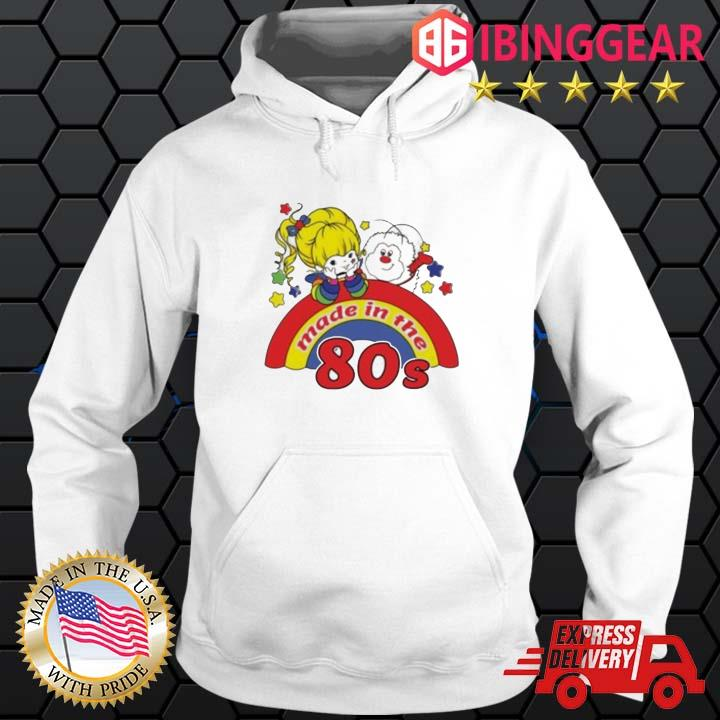 Womens rainbow Brite made in the 80s fitted s Hoodie trang