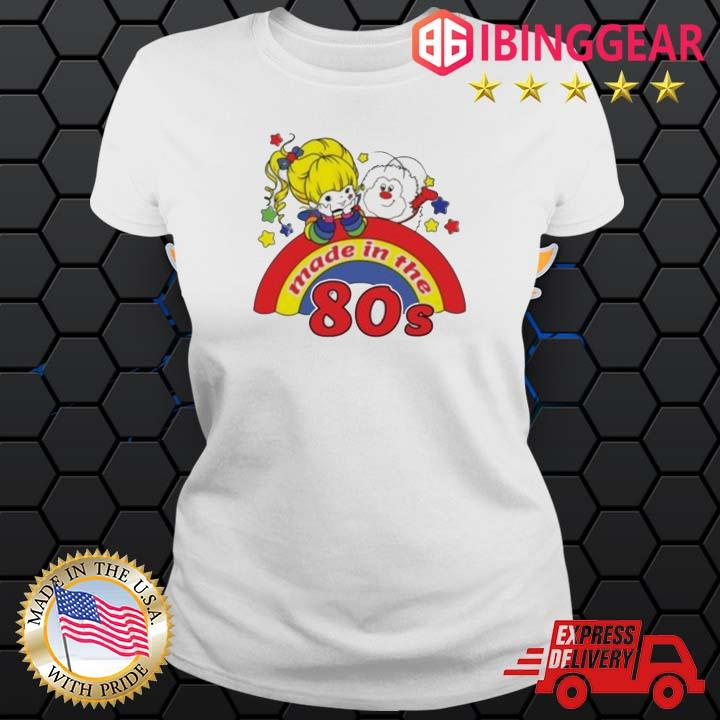 Womens rainbow Brite made in the 80s fitted s Ladies trang