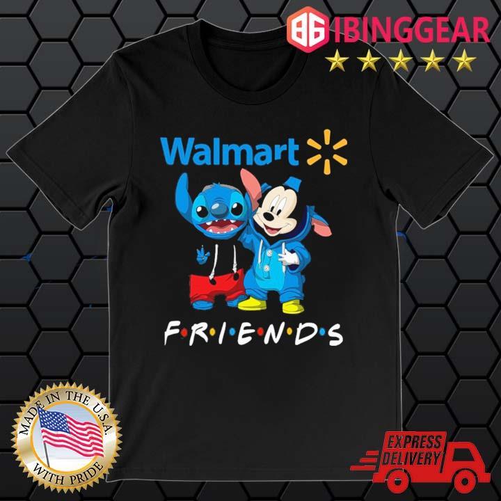 Stitch And Mickey Mouse Walmart Friends Shirt