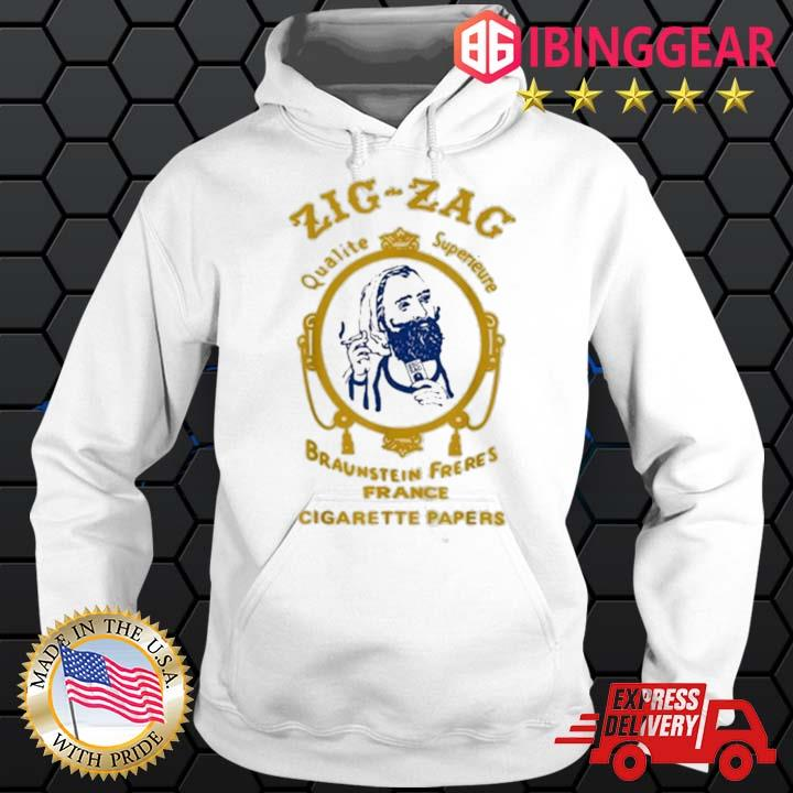 Zigzag Braumsteim Freres France Cigarette Papers Smoking Weed Cigarettes Shirt Hoodie trang