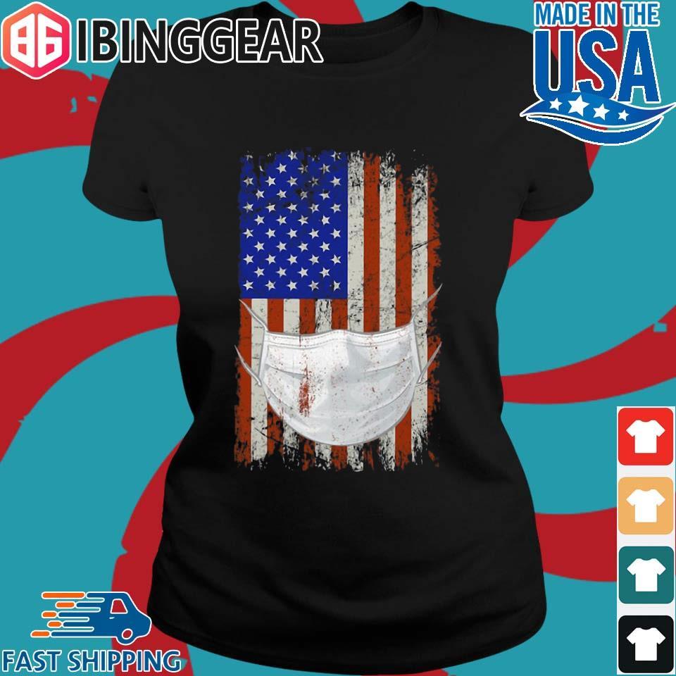 American flag Quarantined Corona Covid 2019 Shirt Ladies den Ibingger