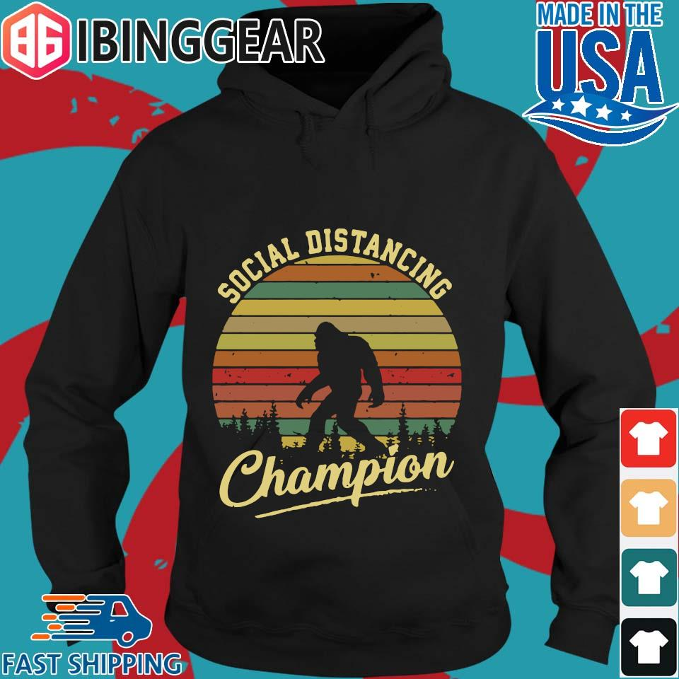 Bigfoot Social Distancing Champion Vintage s Hoodie den