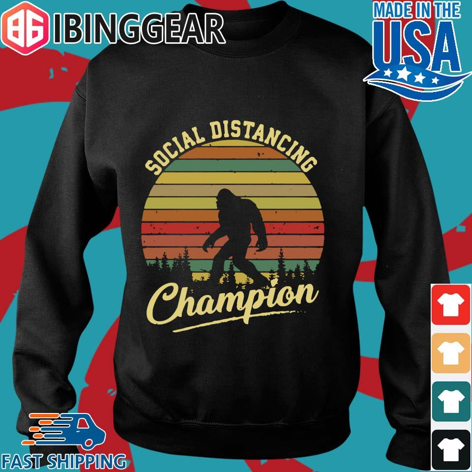 Bigfoot Social Distancing Champion Vintage s Sweater den