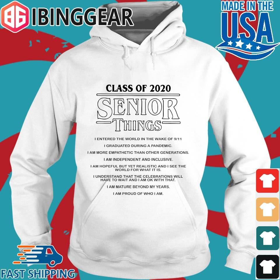 Class of 2020 Senior Things Stranger Things Shirt Hoodie trang