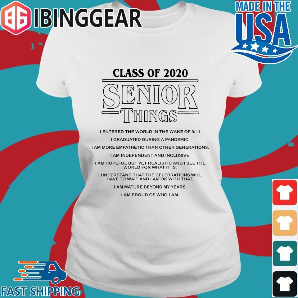 Class of 2020 Senior Things Stranger Things Shirt Ladies trang Ibingger