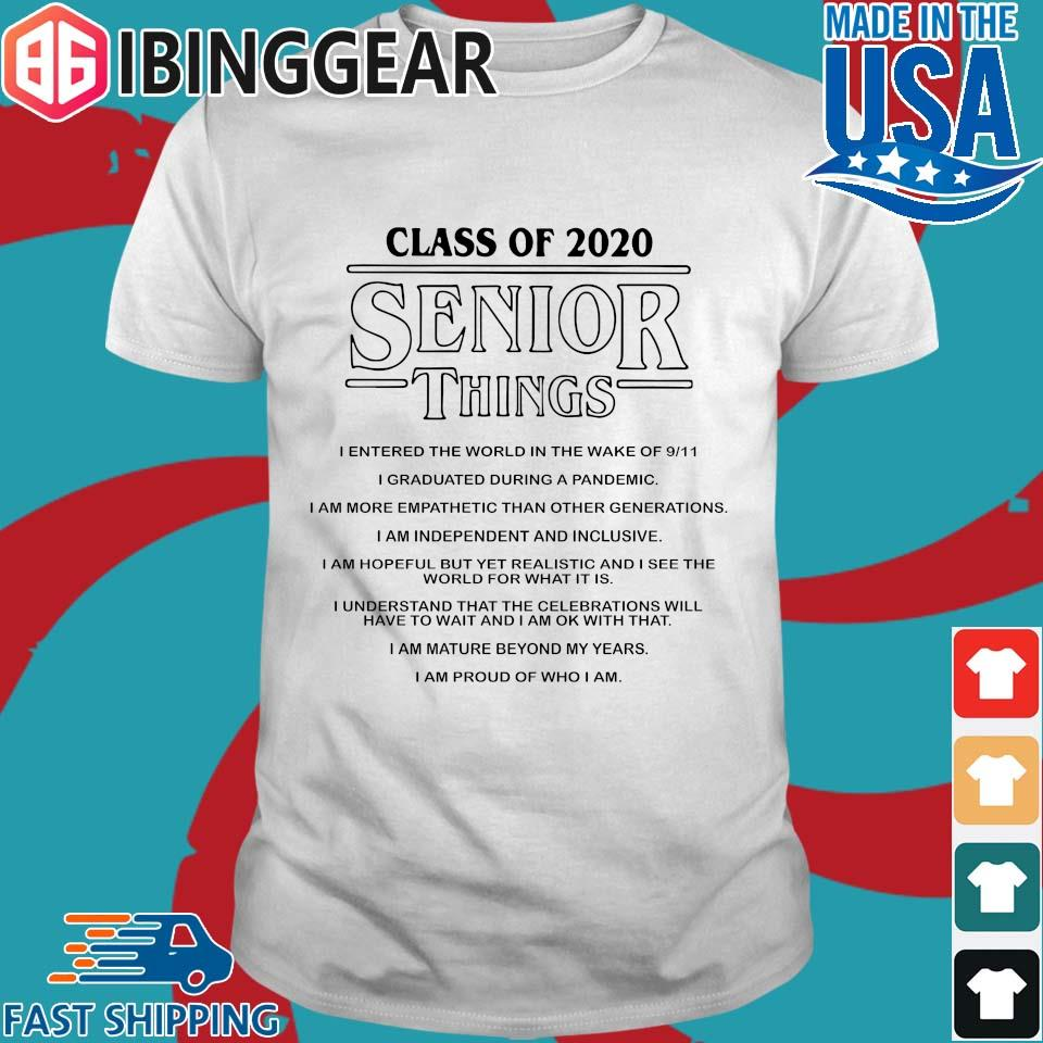Class of 2020 Senior Things Stranger Things Shirt