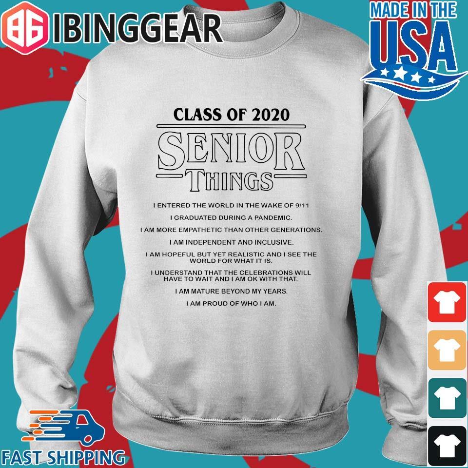 Class of 2020 Senior Things Stranger Things Shirt Sweater trang
