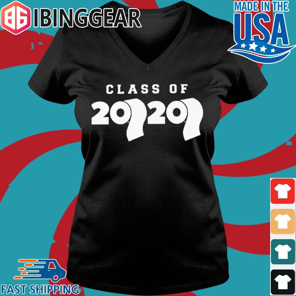 Class Of 2020 Toilet Paper Flu Virus Varsity Shirt Ladies V-Neck