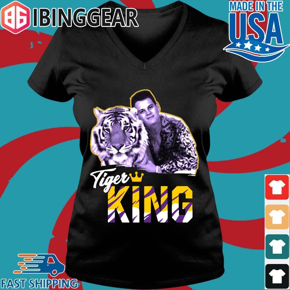 Joe EXOTIC Tigers King Shirt Ladies V-Neck