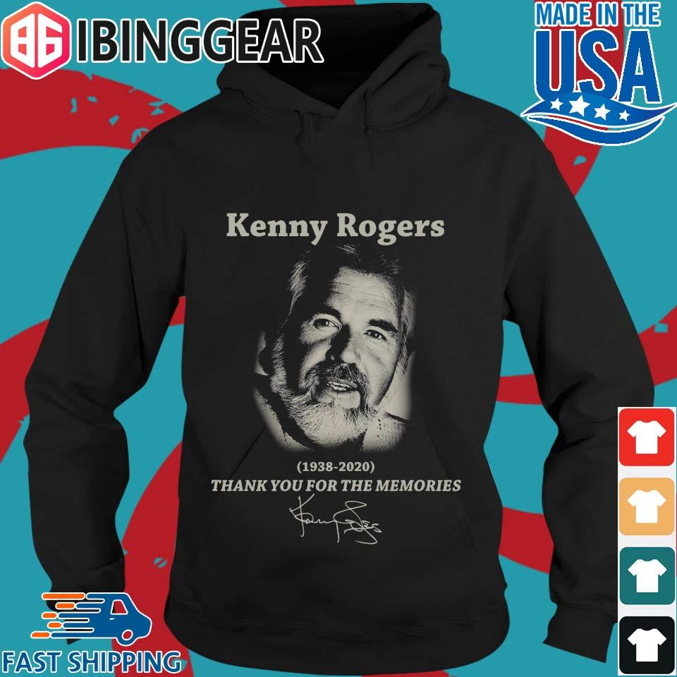 Kenny Rogers 1938 2020 thank you for the memories signature s Hoodie den