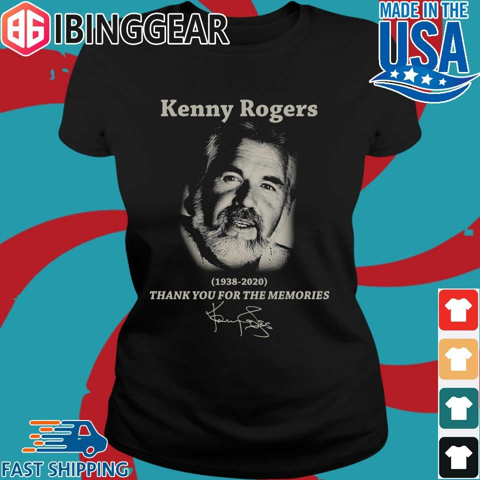 Kenny Rogers 1938 2020 thank you for the memories signature s Ladies den Ibingger