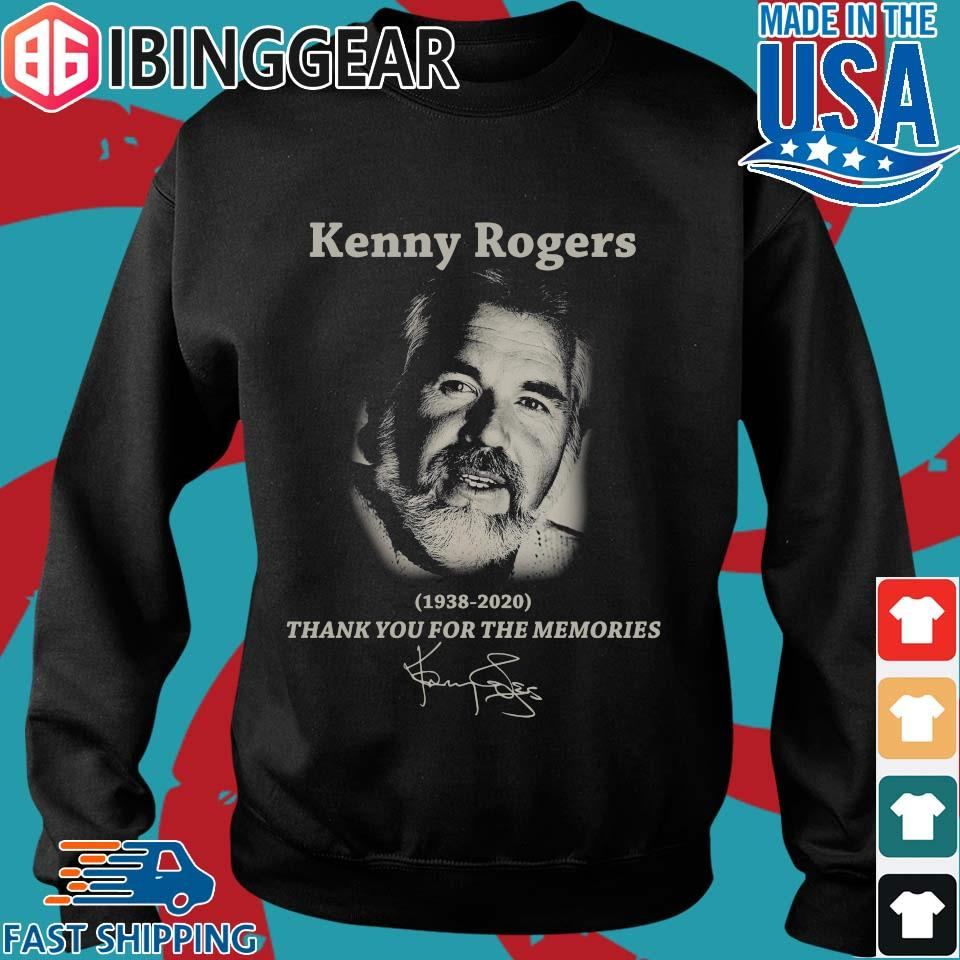 Kenny Rogers 1938 2020 thank you for the memories signature s Sweater den