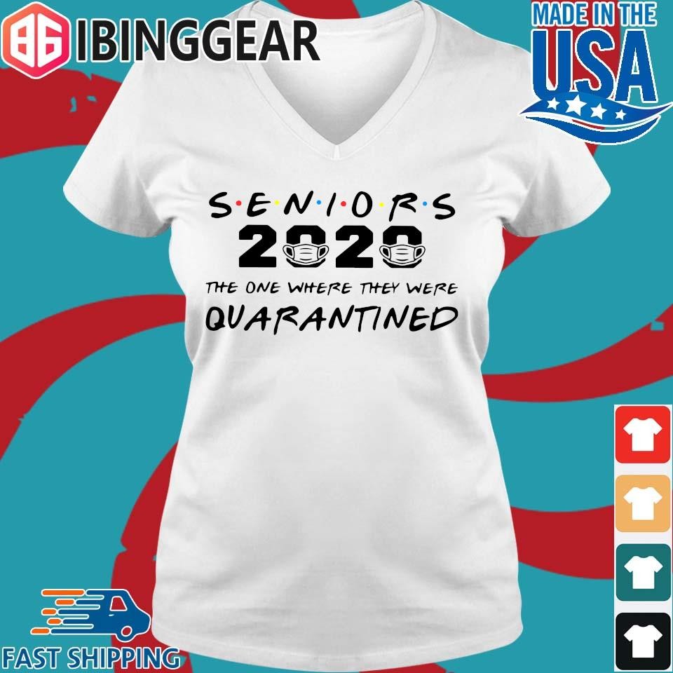 Seniors 2020 The One Where They Were Quarantined Tee Shirt Ladies V-Neck trang