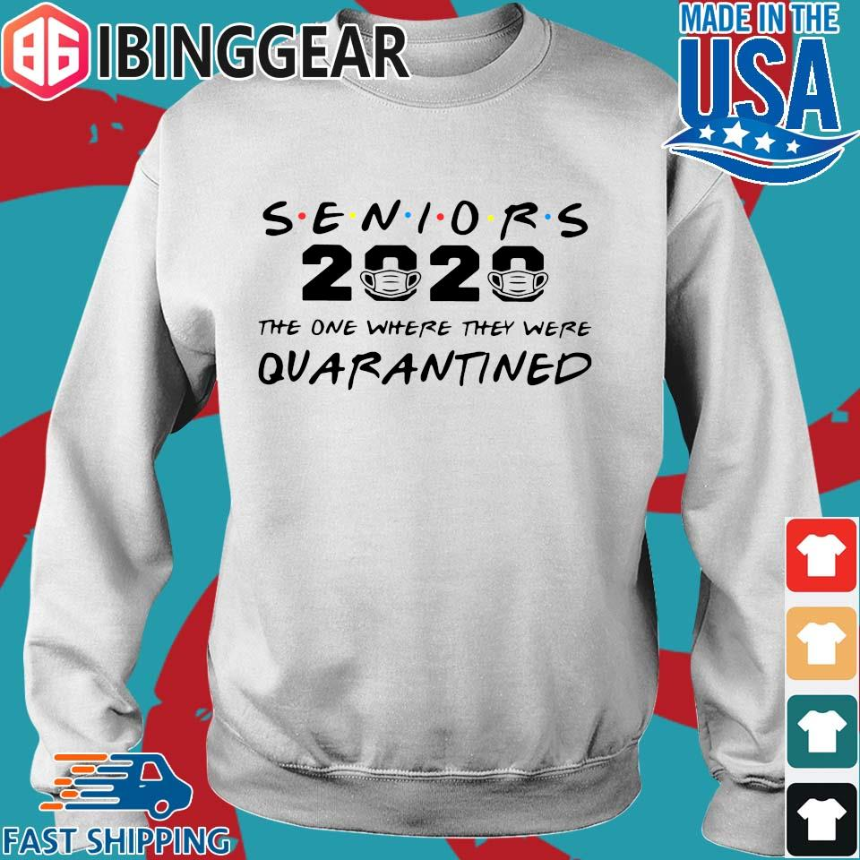 Seniors 2020 The One Where They Were Quarantined Tee Shirt Sweater trang