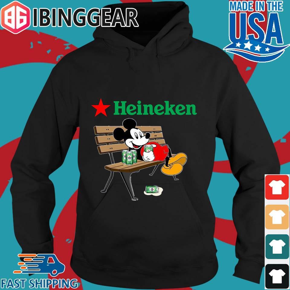 Mickey Mouse Drink Heineken Shirt Hoodie den