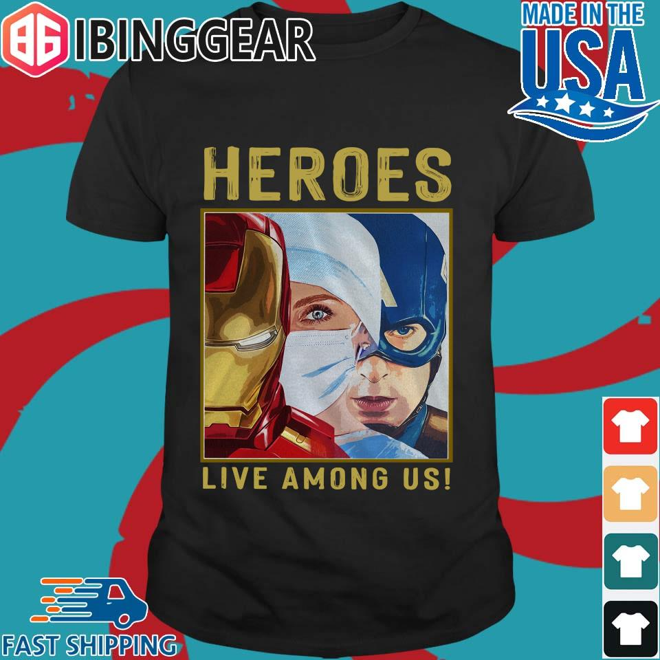 Nurse Heroes Live Among Us Shirt Sweater Hoodie And Long Sleeved Ladies Tank Top