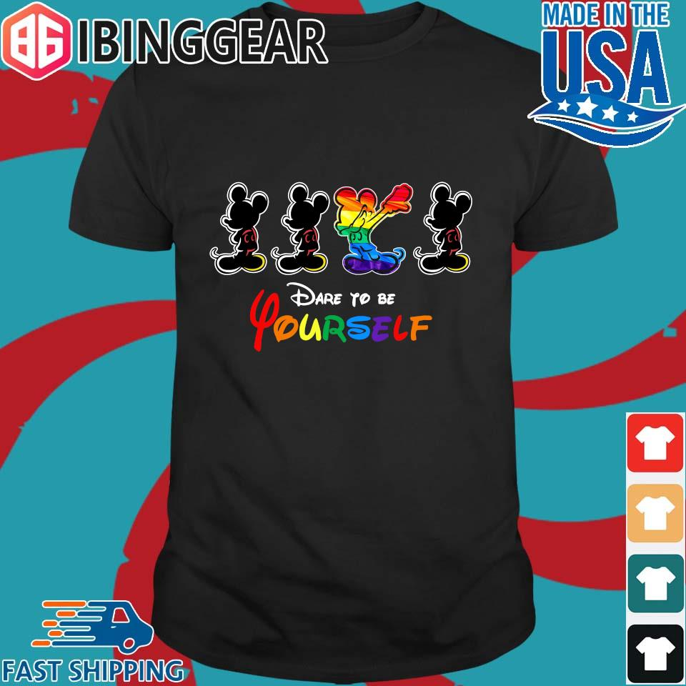 LGBT Mickey Mouse Dare To Be Yourself Shirt