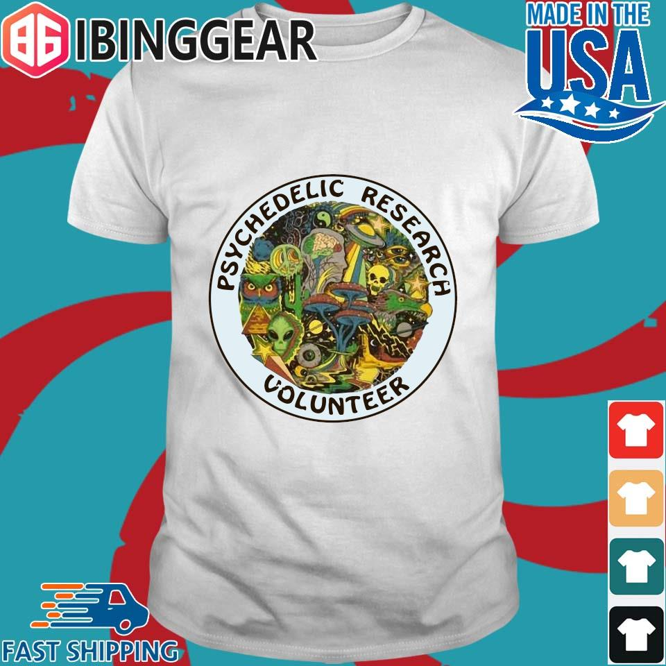 Psychedelic Research Volunteer Ringer Shirt