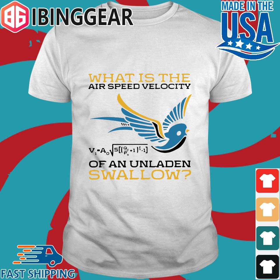 What Is The Airspeed Velocity Of An Unladen Swallow Shirts