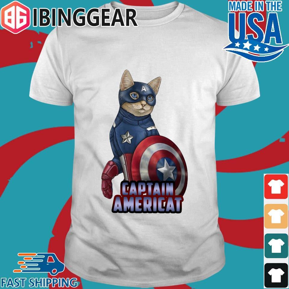 Cats Captain Americat Shirt