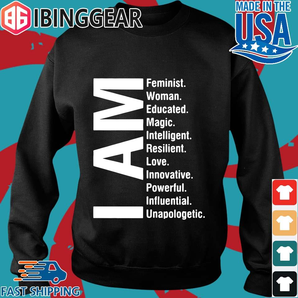 I Am Feminist Woman Educated Magic Intelligent Shirt Sweater den
