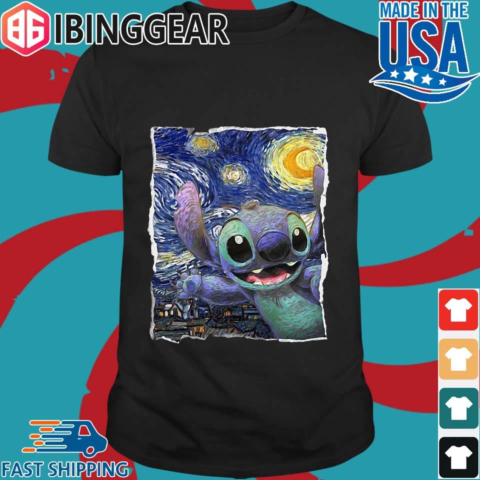Official Stitch Starry Night Van Gogh Shirt