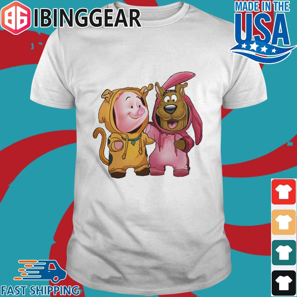 Funny Baby Piglet And Scooby Doo Shirt