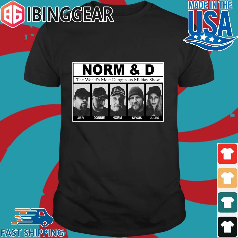 Norm and D 2020 shirt