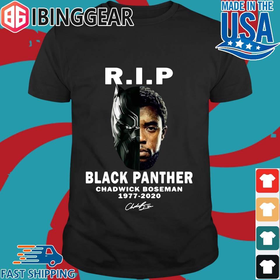 Rip black Panther Chadwick Boseman 1977 2992 signature 2020 shirt