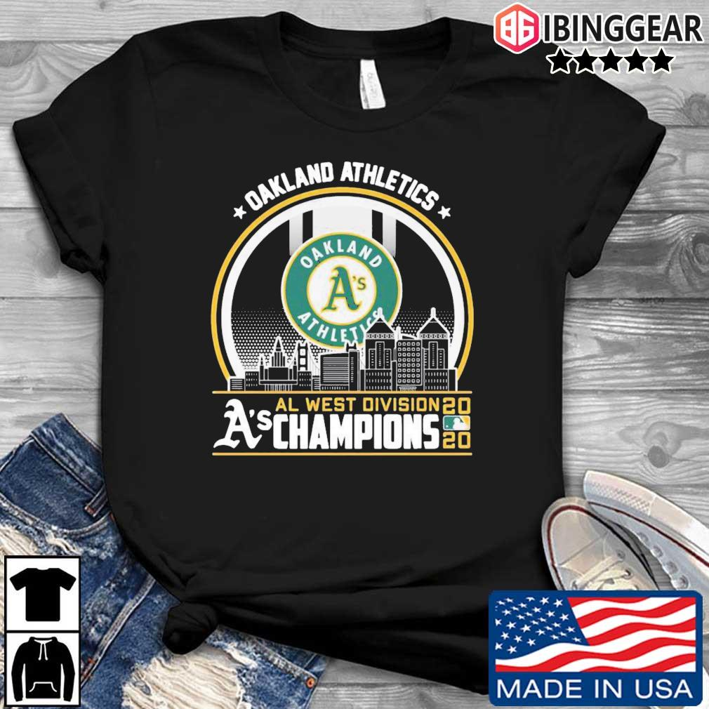 Al west division A's Champions 2020 Oakland Athletics shirt