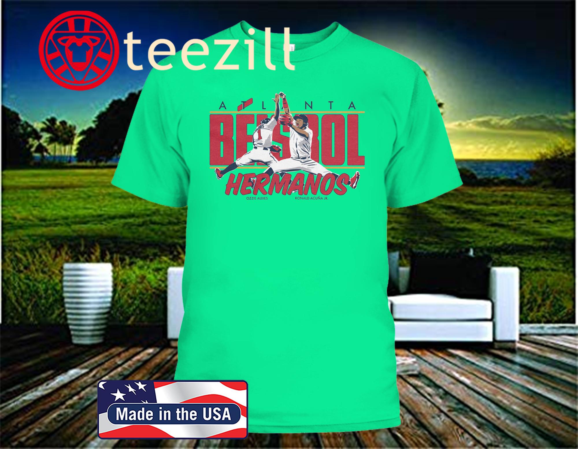 Atlanta Beisbol Hermanos T-Shirt, Ozzie Albies, Ronald Acuna