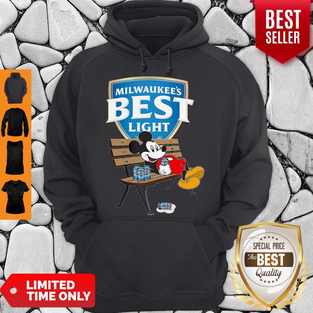 Top Mickey Mouse Drink Milwaukee's Best Light Beer Hoodie