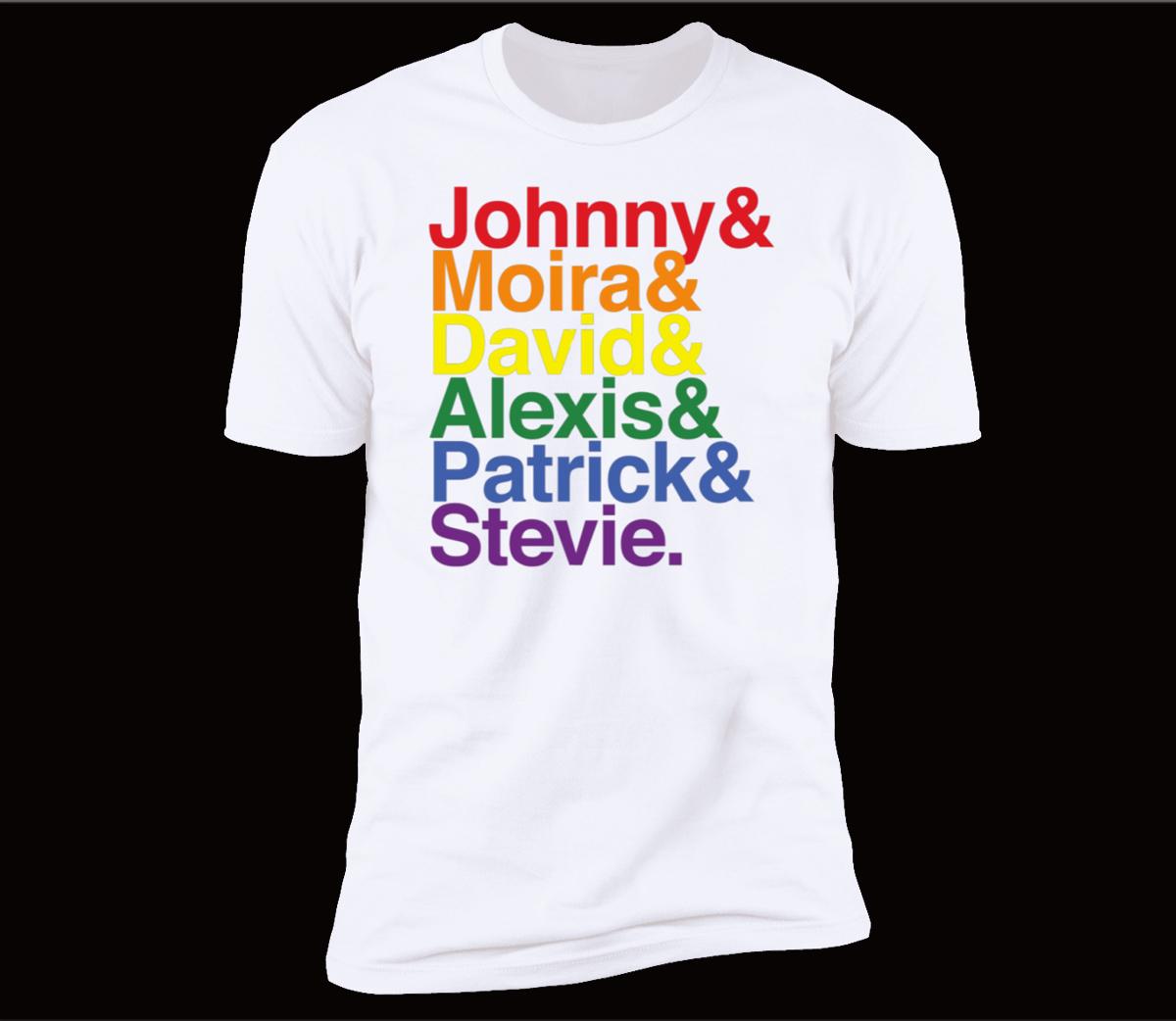 Johnny Moira David Alexis Patrick Stevie Pride Schitts Creek Classic T-Shirt