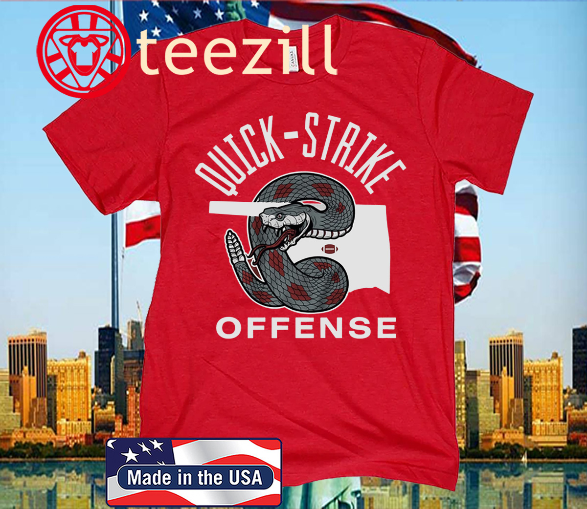 Quick Strike Offense Football T-Shirt